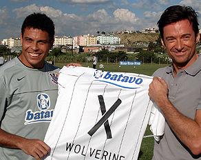Ronaldo e Hugh Jackman